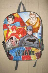 """DC COMICS~16"""" JUSTICE LEAGUE Backpack Book Bag"""