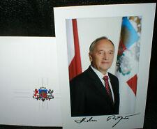 Andris Berzins, ehem. Staatspräsident in Lettland, Autogramm, original signiert!
