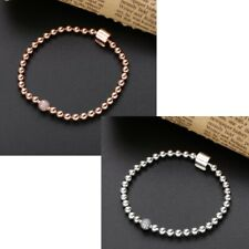 Genuine Sterling Silver S925 Moments Beads & Pavé Bracelet Rose NEW