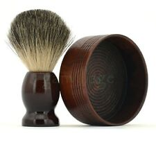 ZY Pure Badger Hair Shaving Brush Natural Wood Shaver Bowl Mug For Barber Razor
