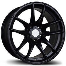 Avid.1 AV32 18X8.5 5x100 +35 Black Rims Fits Brz Impreza Neon Tc Golf