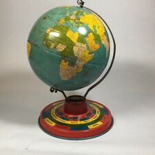 Ohio Art Tin World Globe Zodiac 1930s Kermit Bishop