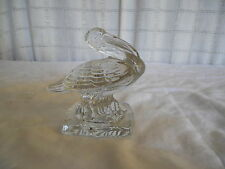 Charming glass Pelican figure paperweight