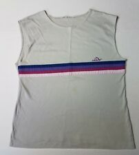 Vintage Jordache Horse Head Mens Tank Top with Stripes Sleeveless ~ Very Soft