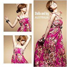 Cotton Blend Full-Length Floral Maxi Dresses for Women