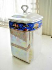 Vintage, Victoria, Czechoslovakia Pearl Luster Canister