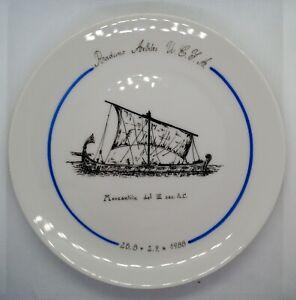 UEFA Referee meeting in Livorno 1988 porcelan plate
