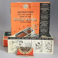 VINTAGE ROLLS RAZOR IMPERIAL NO 2 MADE IN ENGLAND w/ Pamphlets Excellent
