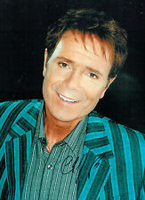 Cliff RICHARD SIGNED Autograph Hugh 16x12 Photo British Music LEGEND AFTAL COA