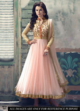 Eid Special Light Pink Net Embroidered Anarkali Suit-NF01-001( FFH-NF01 )