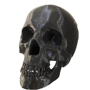 Deko Totenschädel Skull Schwarz Gothic Totenkopf Horror Fantasy, 3D Druck