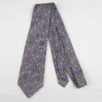 Robert Talbott Best of Class Purple Blue Orange Jacquard Paisley Silk Tie 59 In.