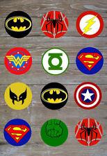 Superhero Cupcake Toppers x 24 edible pre cut
