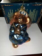 Boyds Bears Celeste Goodnight Bear Angel Glass Ornament Christmas