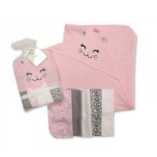 Fast Deliver Disney Minnie Mouse Baby Girls Set Of 2 Hooded Soft Bath Towels Pink 60x80 Cm Baby Born