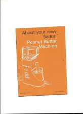 1975 Booklet About Your New Salton Peanut Butter Machine