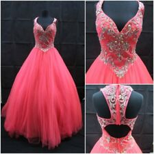 NEW NEON CORAL MACDUGGAL 6 FORMAL PROM DRESS PAGEANT BALLGOWN #48258 $500