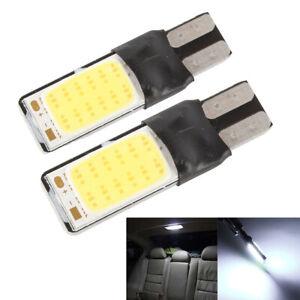 2PCS T10 COB Wedge Car Interior Bulb White LED Canbus Side Lamp Instrument Light