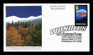 DR JIM STAMPS US MOUNT WASHINGTON WONDERS OF AMERICA UNSEALED FDC COVER