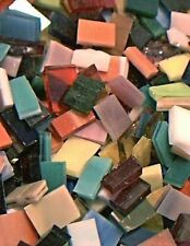 MIXED BAG SAMPLER Stained Glass Mosaic Scrap Pack, about 100 Hand Cut PIECES