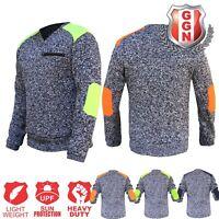 Hi Vis Jumper Sweater Plate Shoulder Style Body Dark Marble Chest Pocket