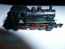 märklin spur z black Loco with 5 pole Engerine with golden Stripes unused