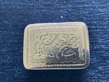 More details for solid silver victorian vinaigrette 1845 by nathaniel mills, birmingham
