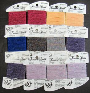 12xNeedlepoint/Embroidery THREAD R GALLERY Treasure 12 Brd metallic-mixed-GN43