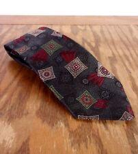 """vtg 80s Haggar Gallery 100% Textured Polyester Geometric Tie Necktie 60"""" 3.5"""""""