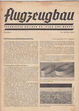 BERLIN, Beilage Zeitschrift 19.04.1937, Flug und Werft DAF 76 Flugzeugbau