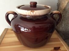 Vintage McCoy Pottery Lidded Hard To Find Bean Pot