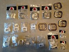 Huge Lot 22 Assorted New Tandy Buckles Nickel Stainless Brass Leather Work (10c)