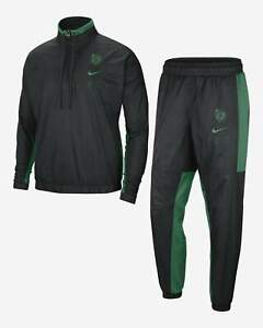Nike NBA Boston Celtics Courtside Tracksuit Men's Black Green Sportswear Suit