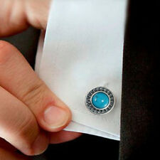 Silver Handmade Gifts From Holy Land Men's Cufflinks Turquoise & 925 Sterling