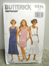 Fast & Easy Butterick Pattern 6211 Tops & Skirts 2 Lengths Sz 6-10 Vintage 1992