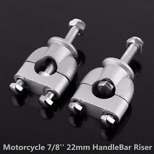 1 Pair Motorcycle 7/8'' 22mm Universal Motorbike Handle Bar Mounting Riser Clamp