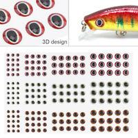 183pcs 3D Stick Fishing Eyes Fly Tying Simulation Eyes Fishing Lure for DIY Lure