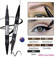 2-in-1 Waterproof Microblade Fork Eyebrow Eyeliner Liquid Brush Tattoo Pen Ink