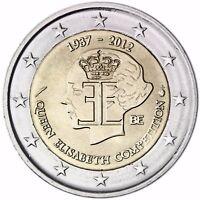 Belgien 2 Euro Münze Queen Elisabeth Musikwettbewerb 2012 Gedenkmünze bankfrisch