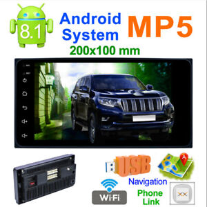 """7"""" 2DIN HD Car Stereo Radio MP5 Player Bluetooth AUX Touch Screen  Android 8.1"""