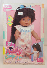 "Vintage 1988 Playskool BABY DOLLY SURPRISE African American 14"" Doll NEW in BOX"