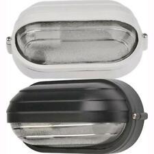 Plafoniera Ovale da Esterno Giardino Palpebra Mini 60W Bianca 22,5x11,5x11,5 cm