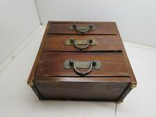Antique Primitive Wooden Box With Three Drawers Very Rare Piece