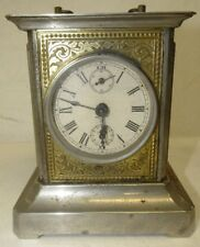 "German Musical Carriage Mantle Clock, K.C. Co. Germany, 4"" x 5 1/4"" x . Lot 79"