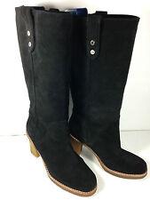 UGG Australia Josie Tall Black Suede  Boots Size 10 US.