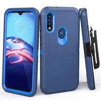 For Motorola Moto E 2020 Holster Case Belt Clip Kickstand Shockproof Phone Cover