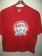 Mike Scioscia MLB Baseball Winningest Manager Los Angele Angels #14 T Shirt XLg