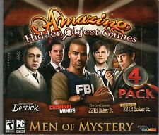 CRIMINAL MINDS Hidden Object MEN OF MYSTERY 4 PACK PC Game DVD NEW