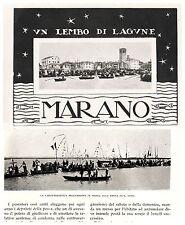LAGUNA DI MARANO FRIULI SERENISSIMA PESCATORI GIOCHI PROCESSIONE S.VITO 1923