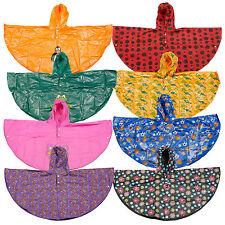 Kids EVA Rainproof Waterproof Poncho Roll Up Reusable Plastic Summer Rain Coat